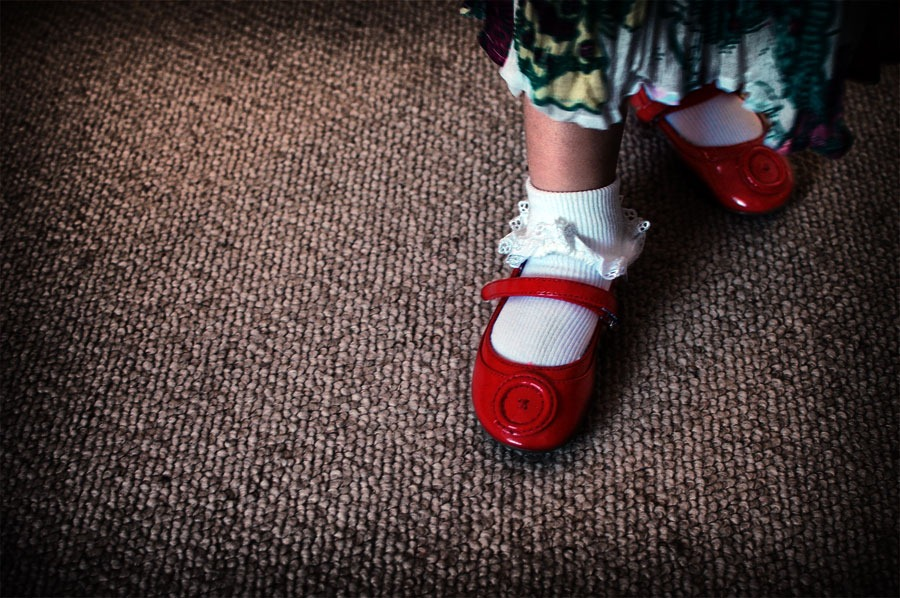 Little Red Shoes & Big Brown Ones | Jennifer Farley Photography